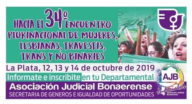 """Vamos por un """"34° Encuentro Plurinacional de Mujeres, Lesbianas, Travestis, Trans y No Binaries"""""""