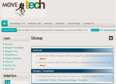 How to create a sitemap of a Website/Blog?