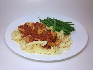 http://sweetlilrebel.blogspot.com/2013/12/leftover-chicken-pasta.html