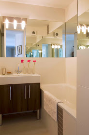 Utilización de espejos en los baños