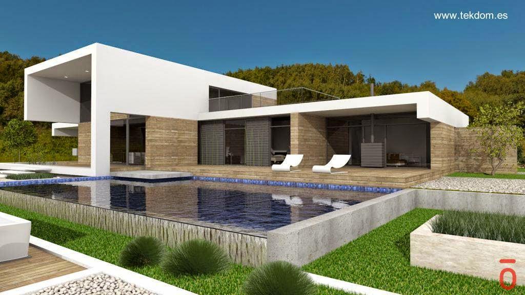 Casa modular barcelona de dise o moderno inhaus casas - Casas modulares barcelona ...