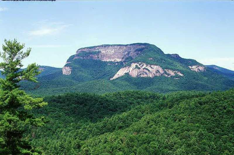 Whiteside Mountain, North Carolina. The Original Route (5.11a) ascends 9