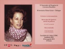 VI Seminário de Pesquisa de Literatura Brasileira - Faculdade de Letras da UFMG - 29 de agosto 2013