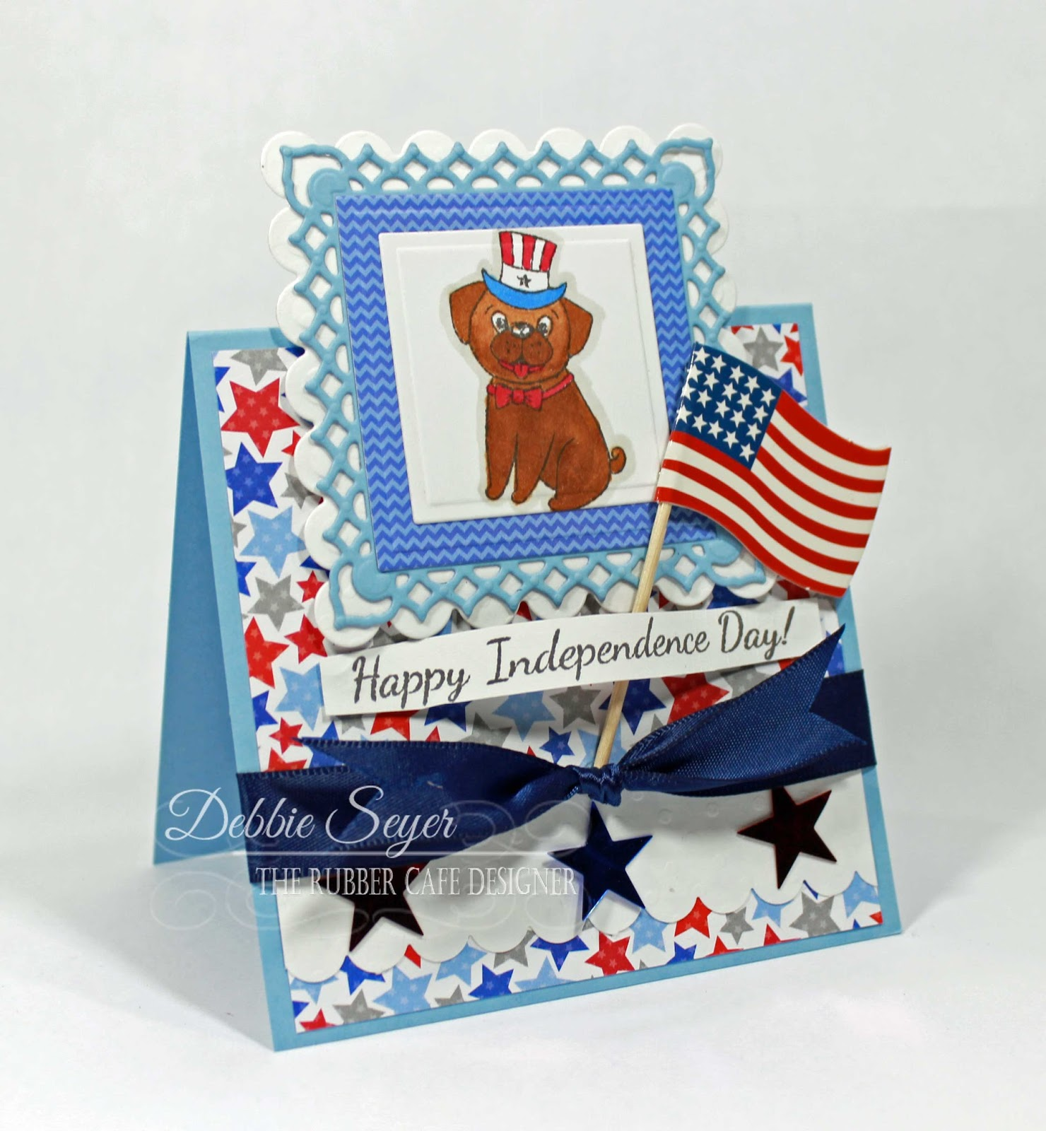 The Rubber Cafe Design Team Blog Happy Independence Day Tent Topper