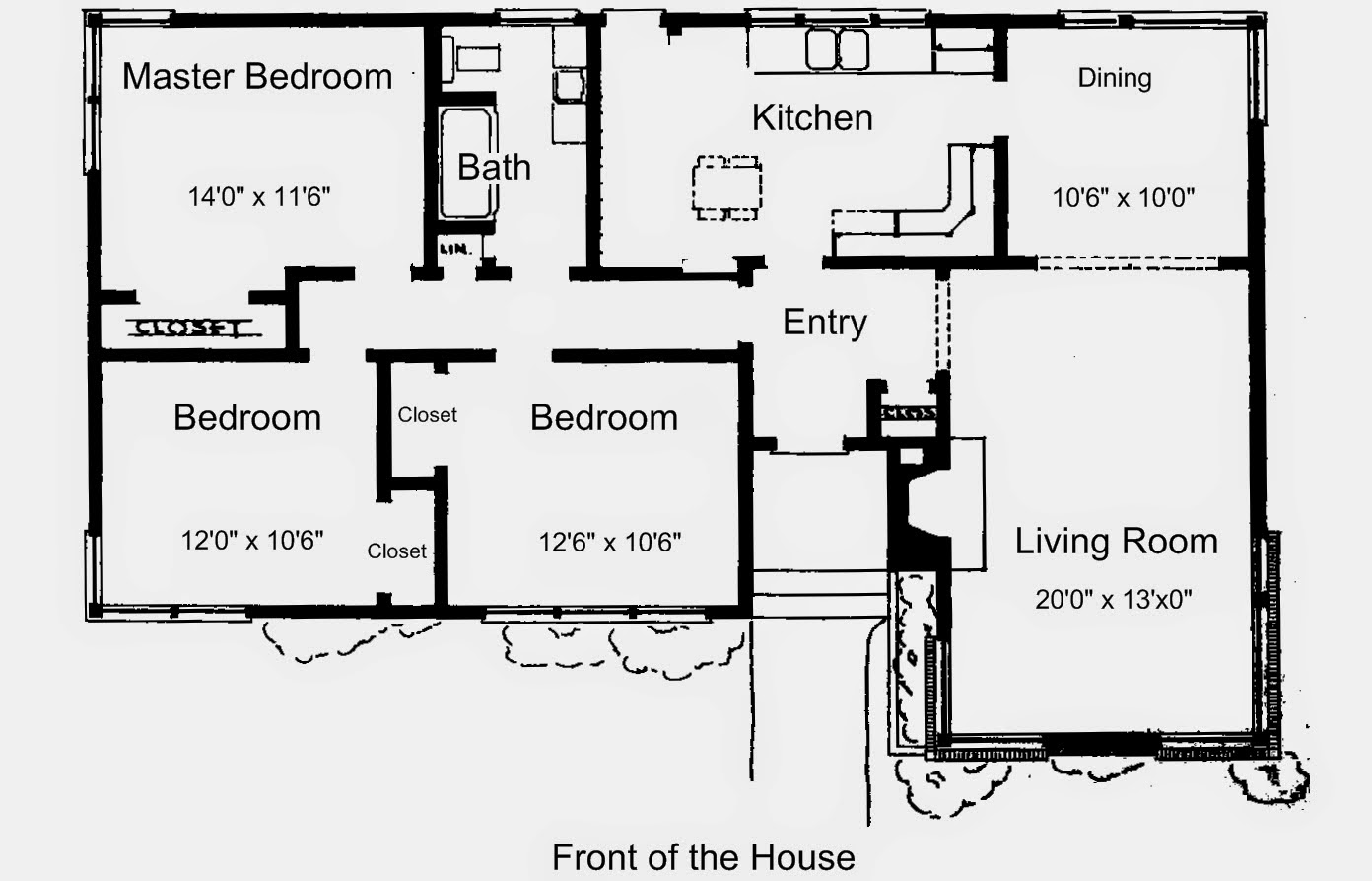 Gambar Denah Rumah Minimalis Sederhana 1 Lantai 3 Kamar Tidur Terbaru