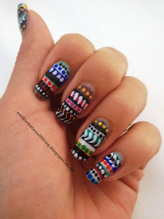 tribal nails nail art