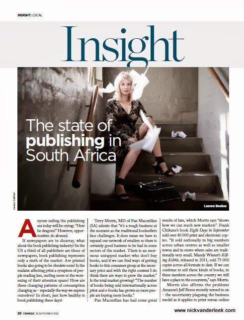 Recently Published by Nick van der Leek: The State of Publishing in SA