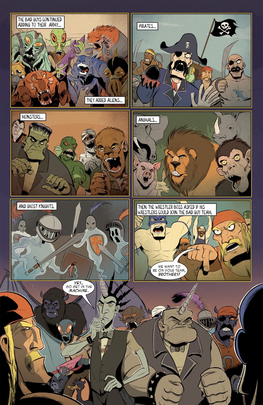 Read online Axe Cop: Bad Guy Earth comic -  Issue #2 - 15