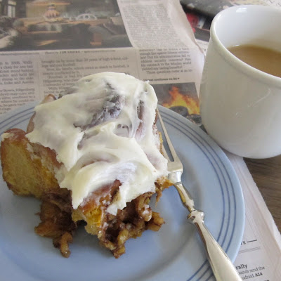 Pumpkin Walnut Cinnamon Rolls