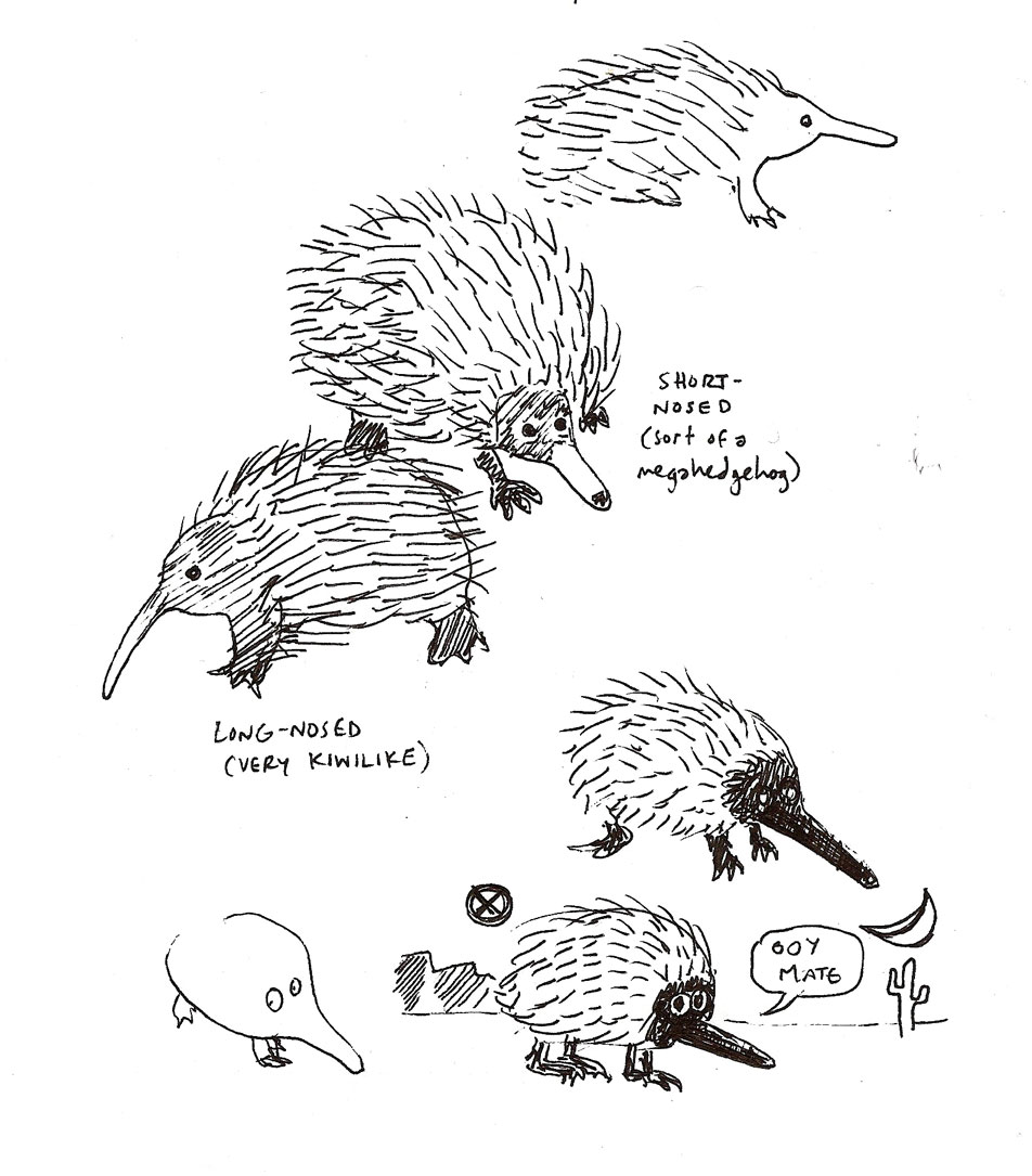 you will probably be more familiar with the platypus than with the echidna the other monotreme monotremes are the mainly australian mammals that lay eggs