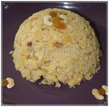 Sweet Rava Pongali