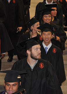 Xu Daniel Rusong was among four Chinese students to earn dual degrees from SHSU and Zhejiang Police College.
