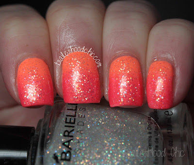 barielle stardust china glaze sun of a peach color club peace love & polish gradient