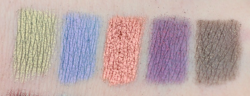 Neve Duochrome palette top row swatch