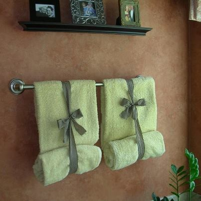 bath cloths decoration