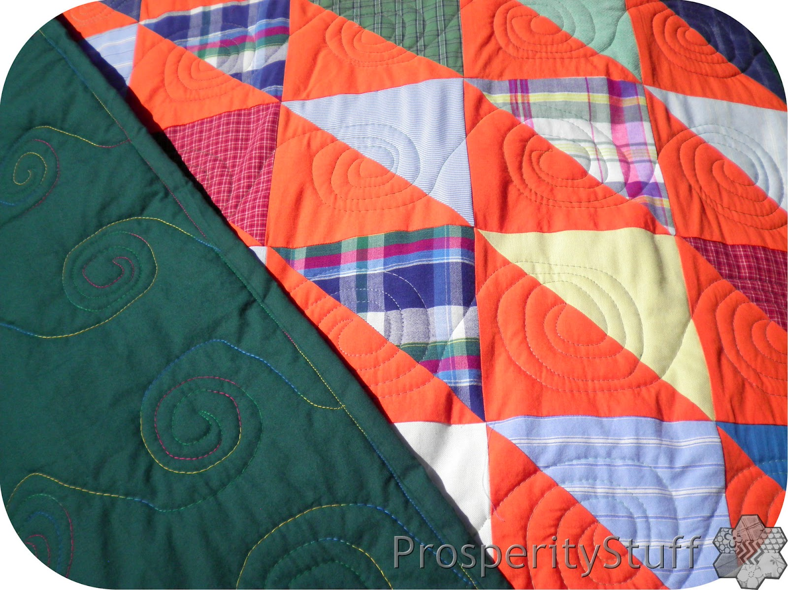 ProsperityStuff Half-Square-Triangle Quilt - shirts & sheets