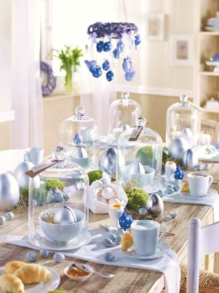 Chic home design and decor easter decor easter table for Table centerpieces for home