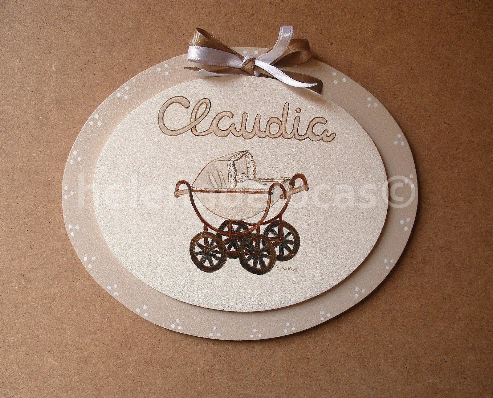 Helenadelucas placa de madera infantil para puerta - Placa de madera ...