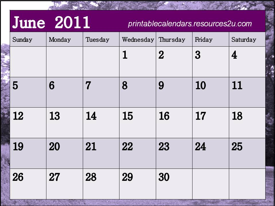 blank march 2011 printable calendar. See other June 2011 Calendars