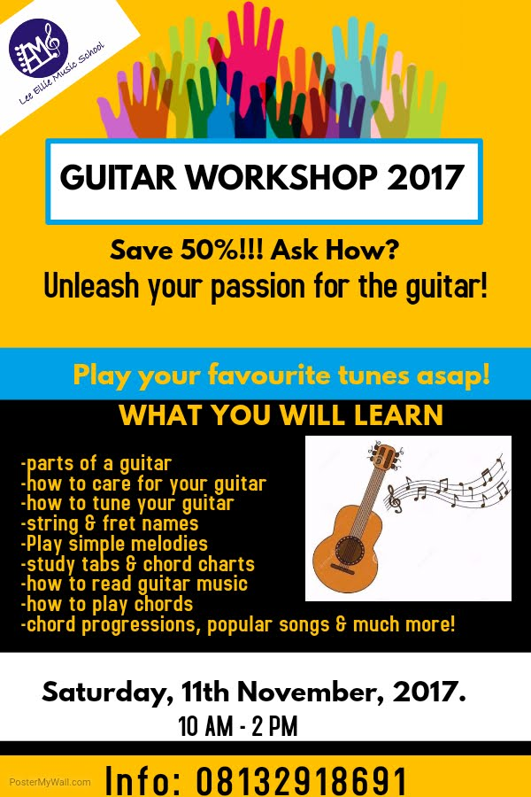 Our Annual Guitar Workshop is Here Again!