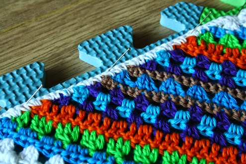 Crochet: wet blocking tutorial