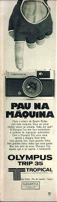 propaganda Olympus -1973. 1973; os anos 70; propaganda na década de 70; Brazil in the 70s, história anos 70; Oswaldo Hernandez;