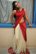Chaithra setti sizzling in half saree-thumbnail-3