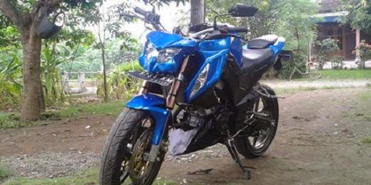 Hasil Modifikasi Yamaha Vixion Ala Kawasaki Z1000 title=