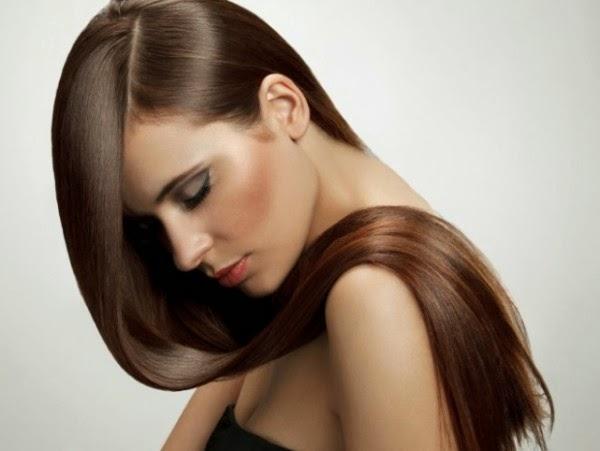 Glanz von gesunden Haaren