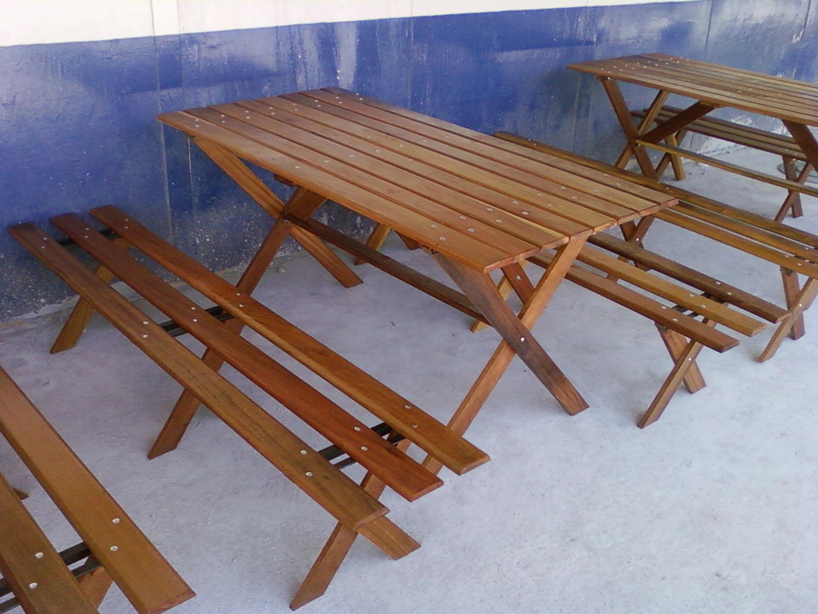 : Mesa em madeira para área gourmet 1 60 x 080 mts com ou sem bancos #6F4328 1600x1200