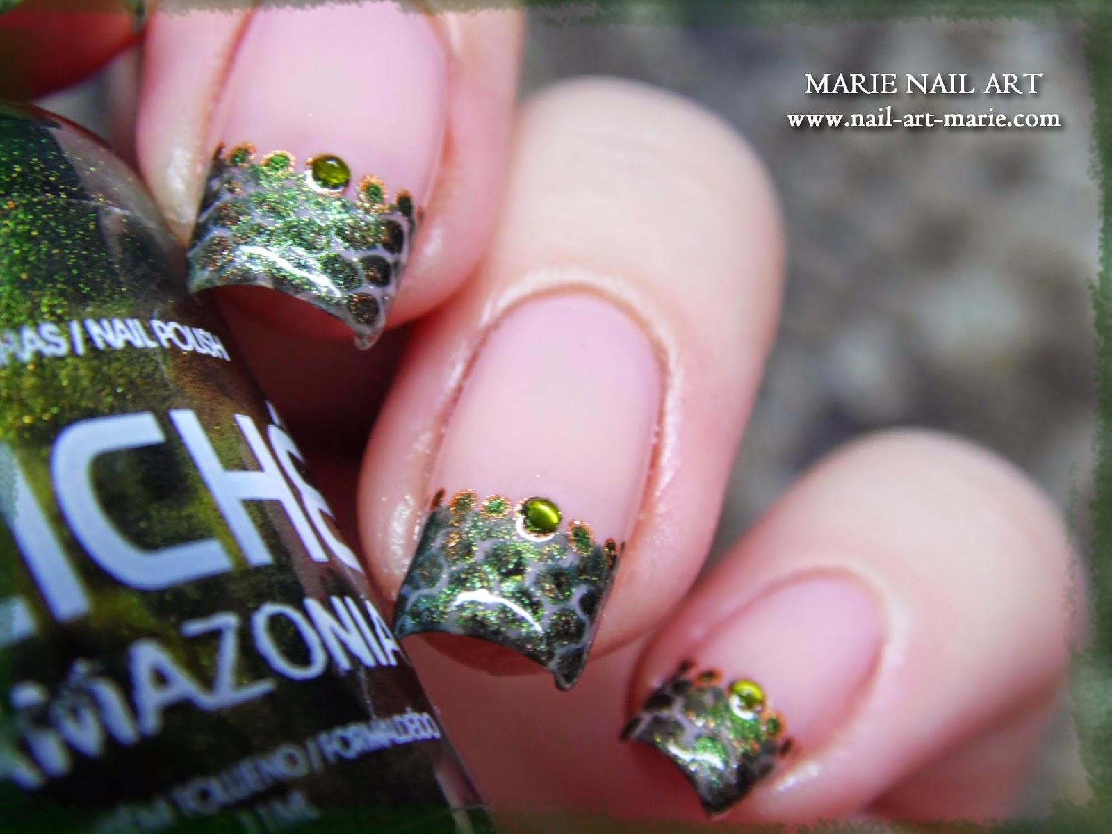 nail art effet peau de serpent9