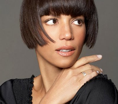 short bob hair, bob with bangs, black models, african american models, veronica webb, black supermodel