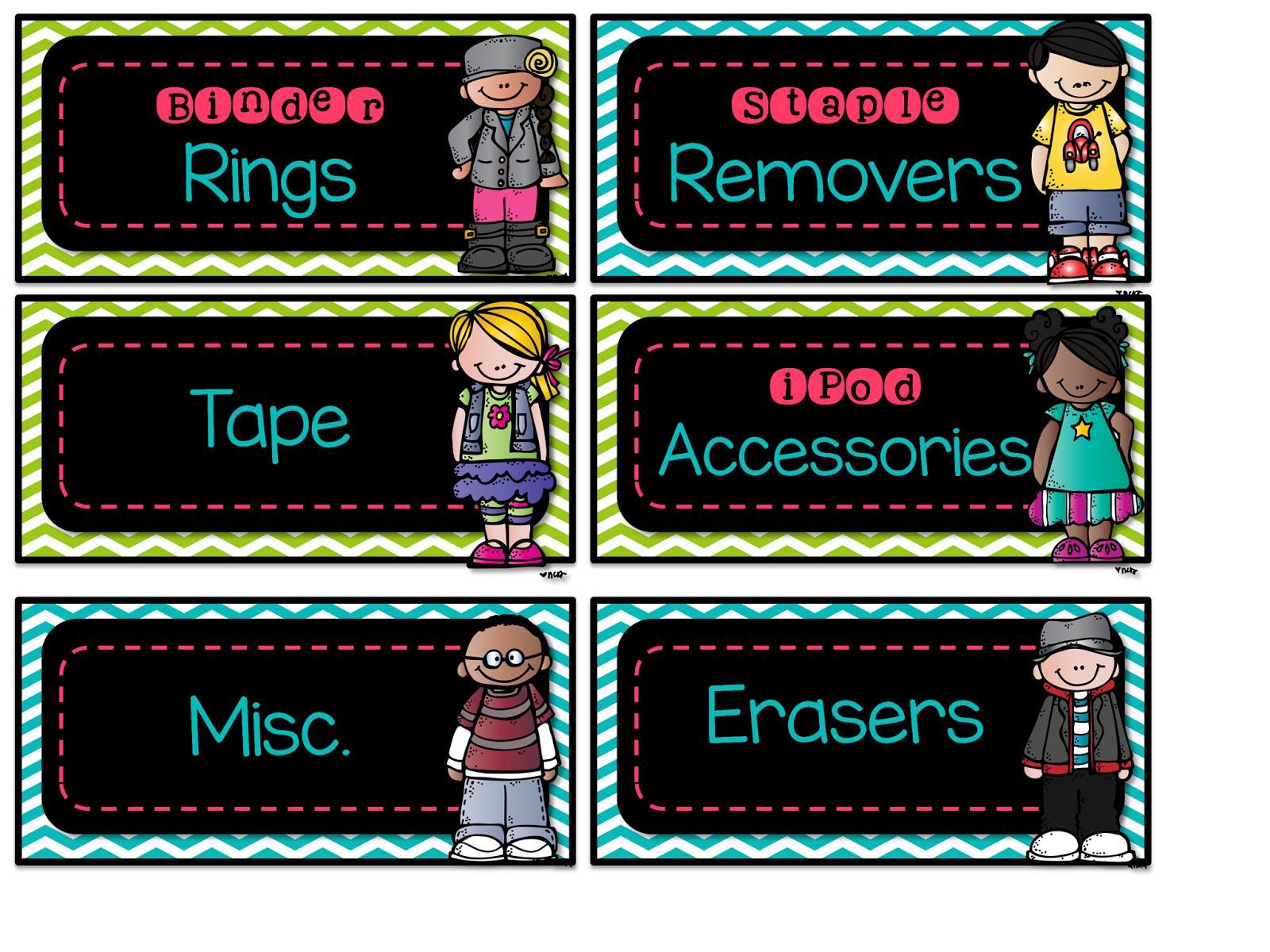 This is a graphic showing labels for a teacher toolbox.
