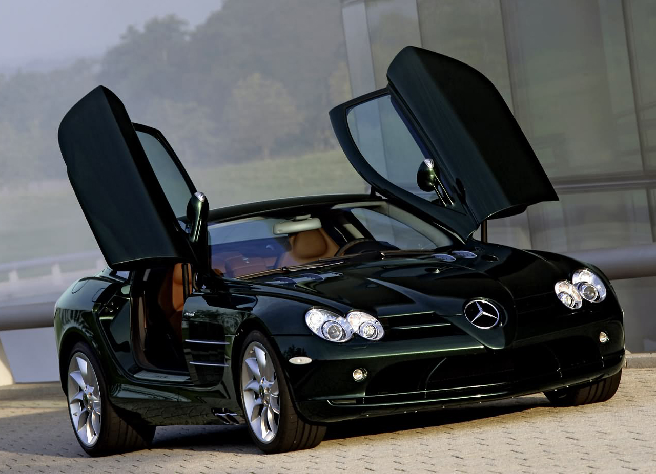 mercedes with butterfly doors
