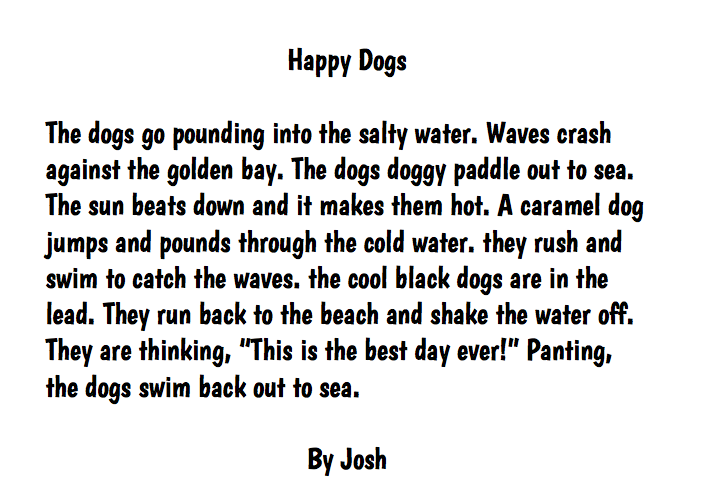 write descriptive essay your dog