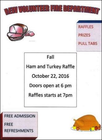 10-22 Ham & Turkey Raffle, Rew VFD