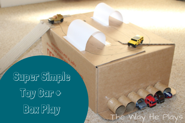 Simple toy car and box play