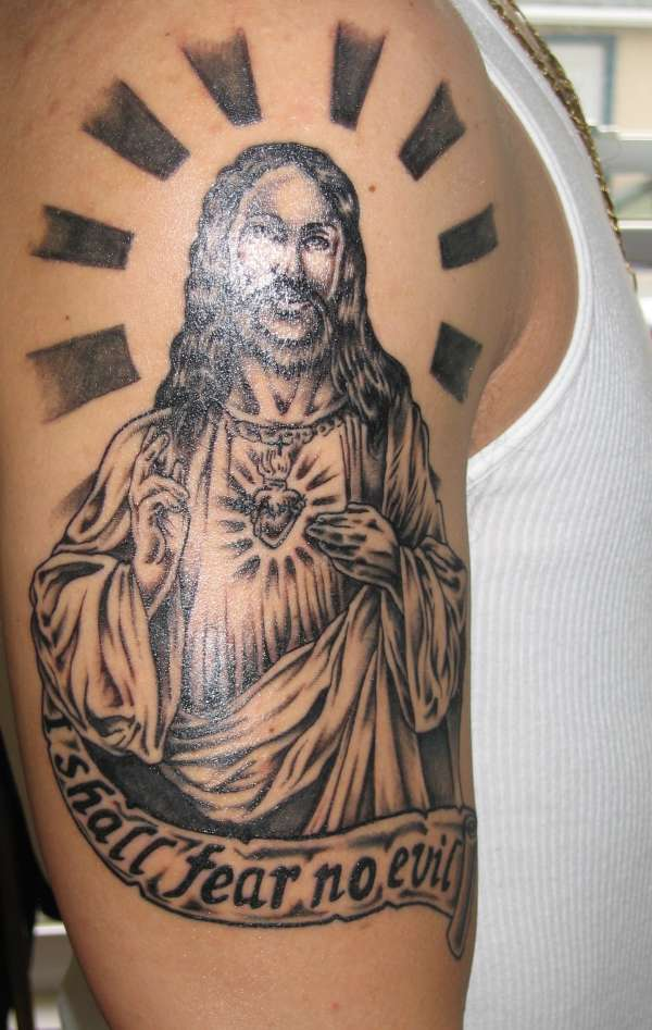 Latest Jesus Tattoo Art Designs Pics 2012