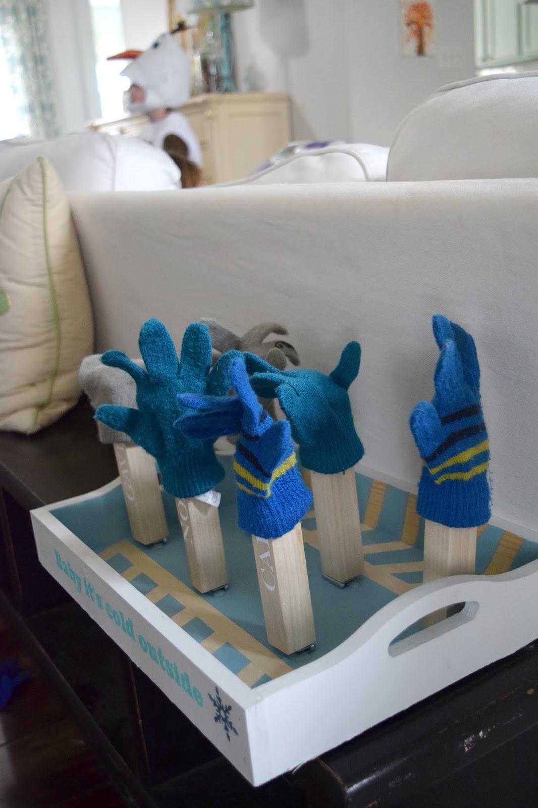 Tray Redo Challenge Diy Wet Mitten Dryer Rack Our House