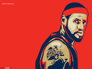 Lebron James illustration red Wallpaper #15