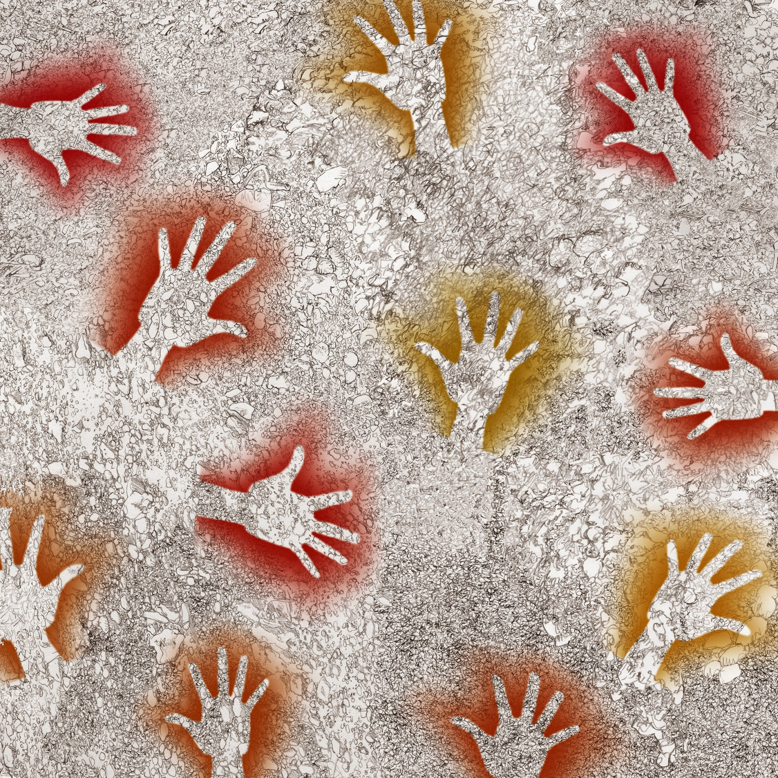 manos que saludan, dibujo