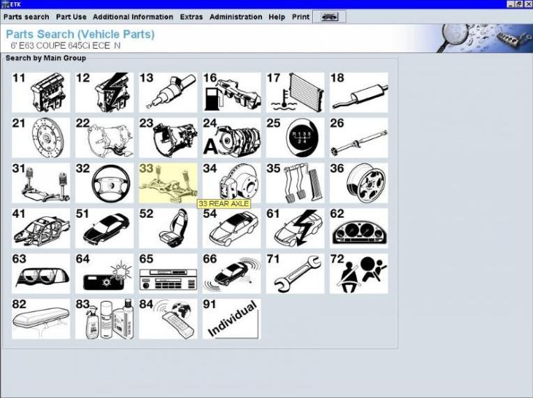 autoparts catalogs bmw etk