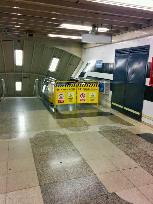 Las escaleras del Metro