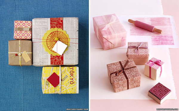 creative christmas gift wrapping, martha stewart