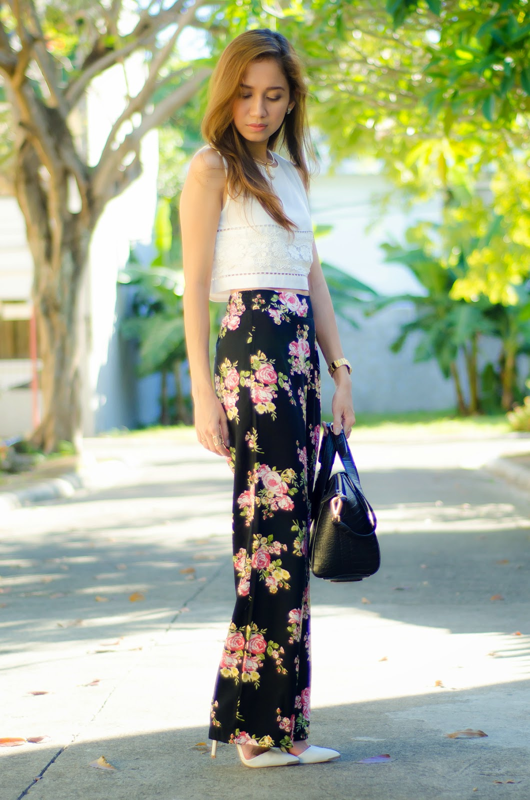 Black Palazzo Pants Outfits Pinterest