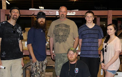 standing: My brother Darrell, Jase Robertson, brother Russ, nephew