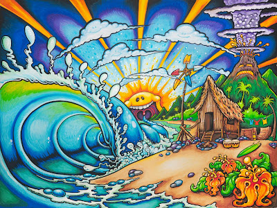 Drew Brophy surf lifestyle artist kids beach painting