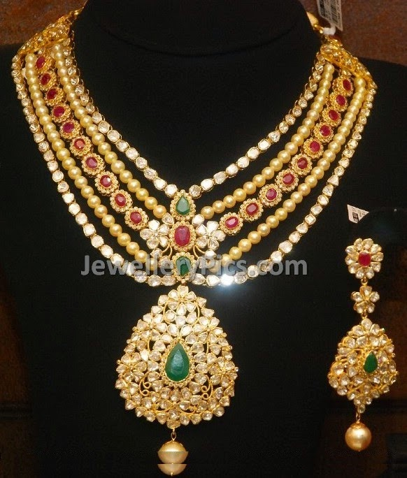 polki  jadau necklace