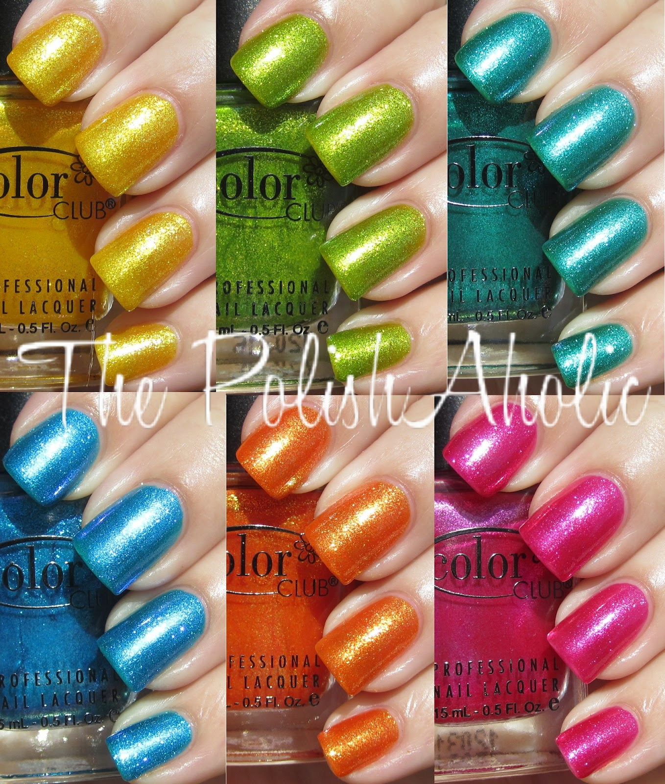 The PolishAholic: Color Club Summer 2012 Take Wing Collection Swatches!