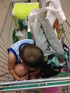 niños, hijos, supermercado, verano, vacaciones